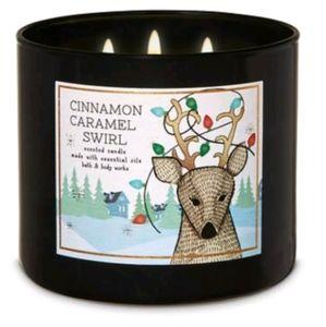 Cinnamon Caramel Swirl 3vWick Candle